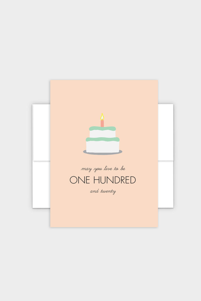 May You Live to Be 120 - Jewish Birthday Card