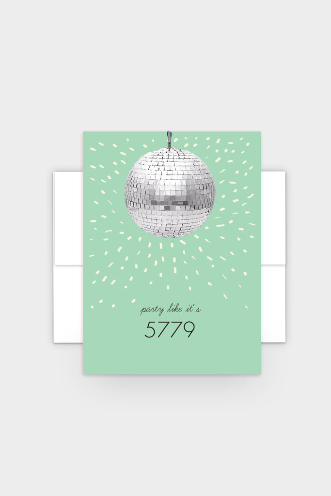 Party Like It's 5779 - Rosh Hashanah Greeting Card