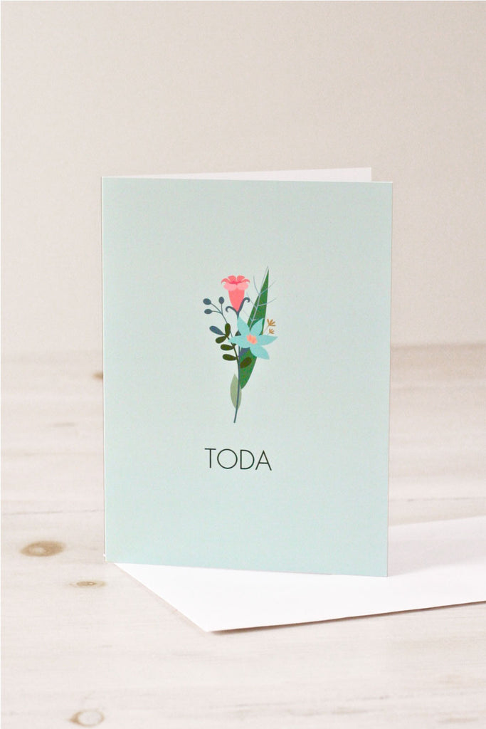 Toda jewish thank you greeting cards chai home the shop toda jewish thank you greeting card m4hsunfo
