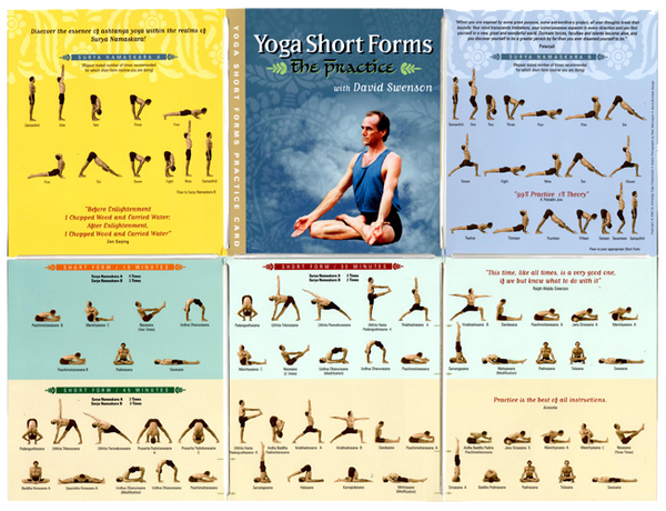 Short Forms PRACTICE CARD - Ashtanga Yoga Productions