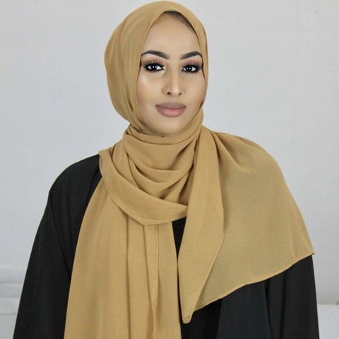 Toffee Georgette Hijab