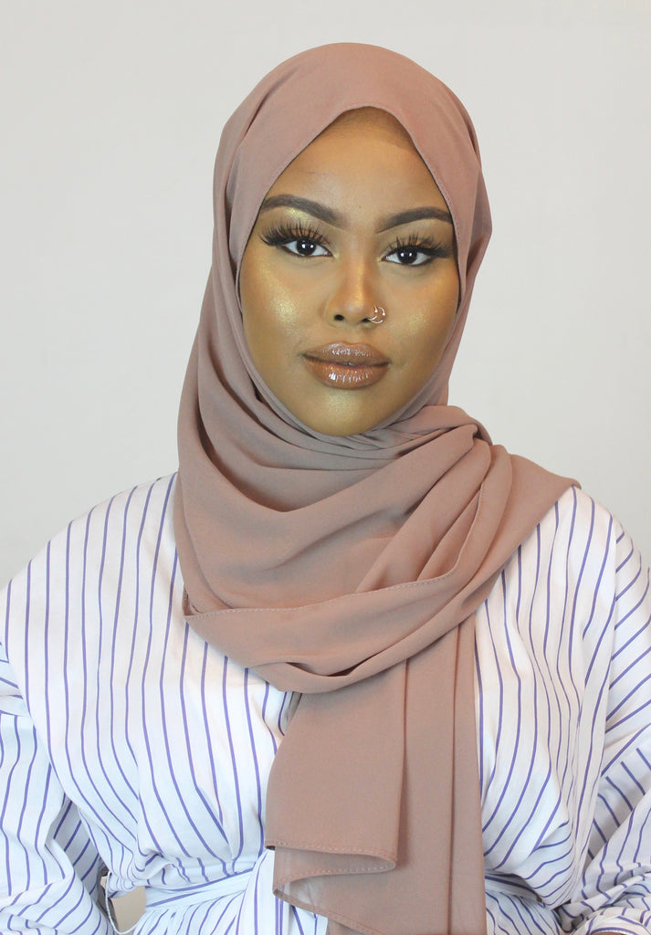 Canyon Rose Stretch Georgette Hijab