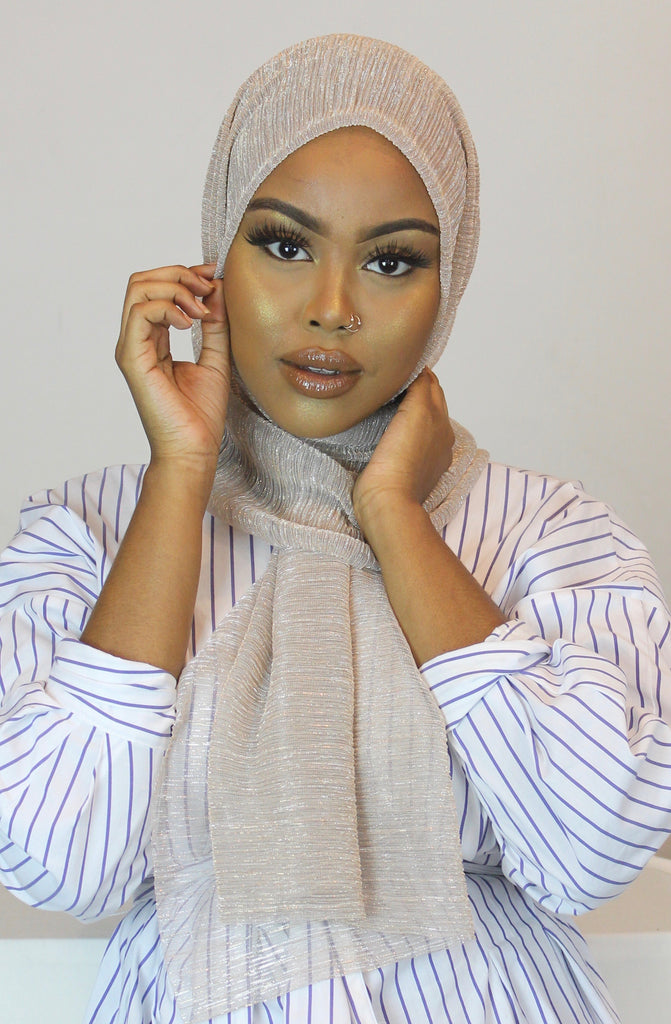 Celestial Crystal Rippled Luxe Hijab