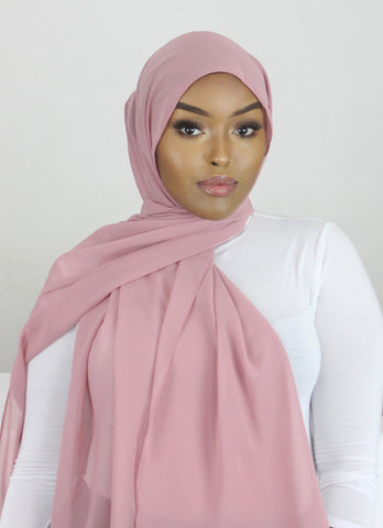 Mahogany Rose Stretch Georgette Hijab