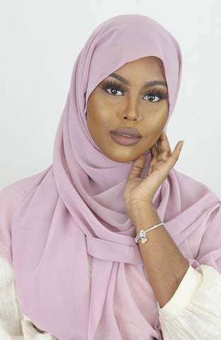 Rosewater Stretch Georgette Hijab