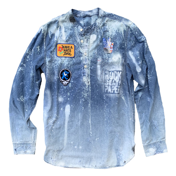 Have A Nice Day Customized Denim Shirt