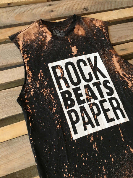 A Rock Beats Paper Custom- Women's Custom Muscle Tee