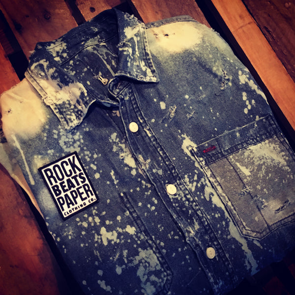 A Rock Beats Paper Custom- Bowery Denim Shirt