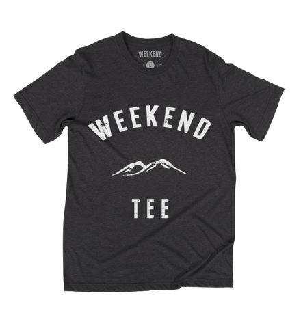 Weekend Mountains Tee in Black