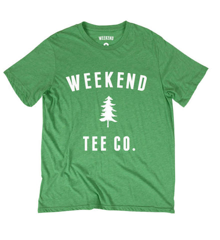 Weekend Pine Tee in Green