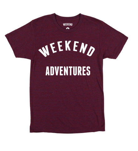 Weekend Adventures - Maroon Tee