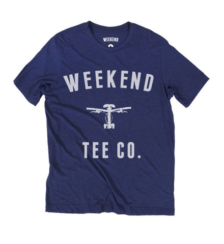 Weekend Bike Tee - Blue