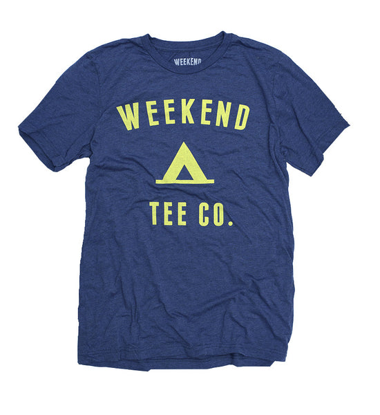 Weekend Camp Tee in Navy Blue