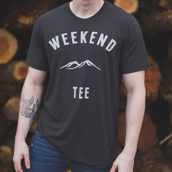 Weekend Mountains Tee in Black at woodpile