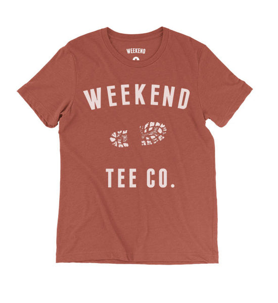 Weekend Trail Tee in Red