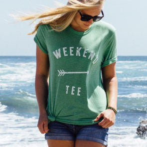 Weekend Warrior Tee Green Outdoor