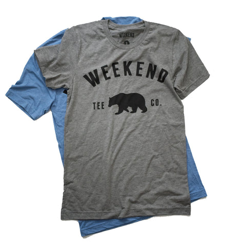 Weekend Bear Tee - Grey