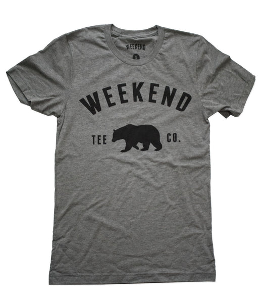 Weekend Bear Tee in Grey