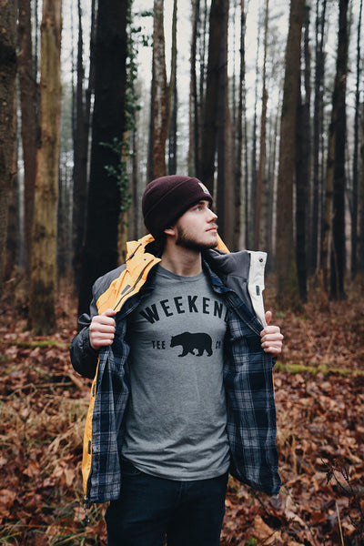 Weekend Bear Tee in the woods!