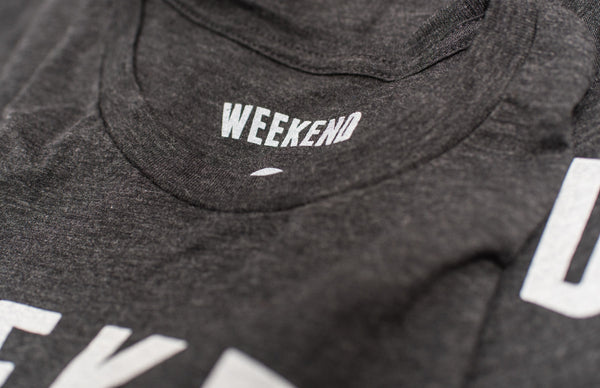 Weekend Mountains Tee in Black close up