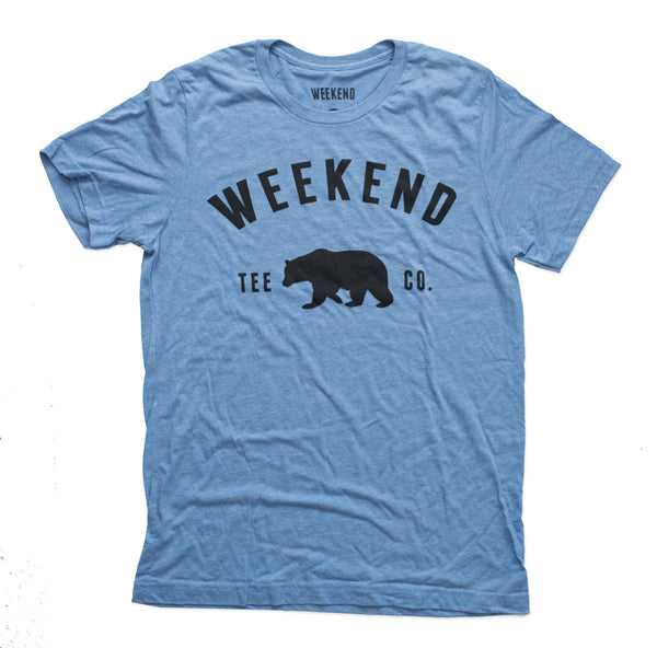 Weekend Bear Tee in Blue