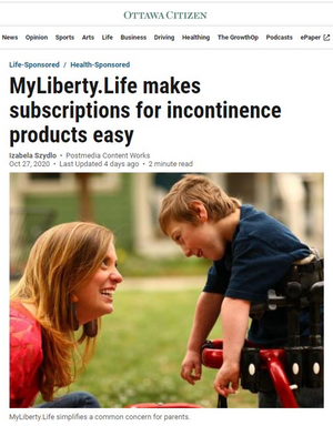MyLiberty.Life makes subscriptions for incontinence products easy