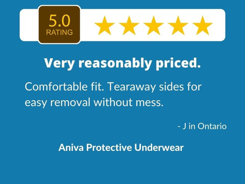 5 star review - Aniva Protective Underwear