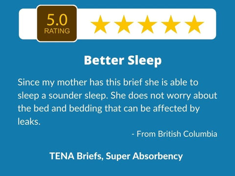 5 star review - TENA Briefs Super Absorbency Adult Diapers