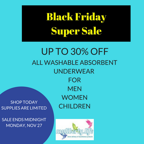 Black Friday Super Sale up to 30% off Absorbent Underwear from Conni