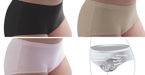 Conni washable absorbent incontinence Underwear for Women