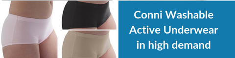 Conni Women Actives - washable absorbent underwear in 3 colours