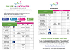 Parent's Guide to Diapers and Underwear for Special Needs Children and Teens.
