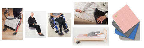 Bed pads, chair pads and bedding to help manage incontinence