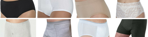 Washable absorbent underwear for men, women and kids