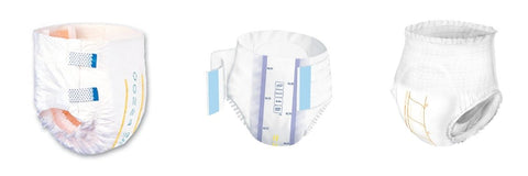 Wetness indicators on disposable briefs and underwear