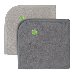 PeapodMats washable, reusable waterproof 1.5'x1.5' chair pad for bed wetting and incontinence in taupe or dark grey, product illustration