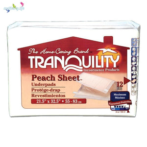 Tranquility Peach Sheet Underpad, 21.5 x 32.5 inches
