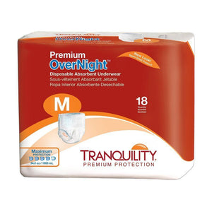 Tranquility Premium OverNight Disposable Absorbent Underwear Medium Packaging