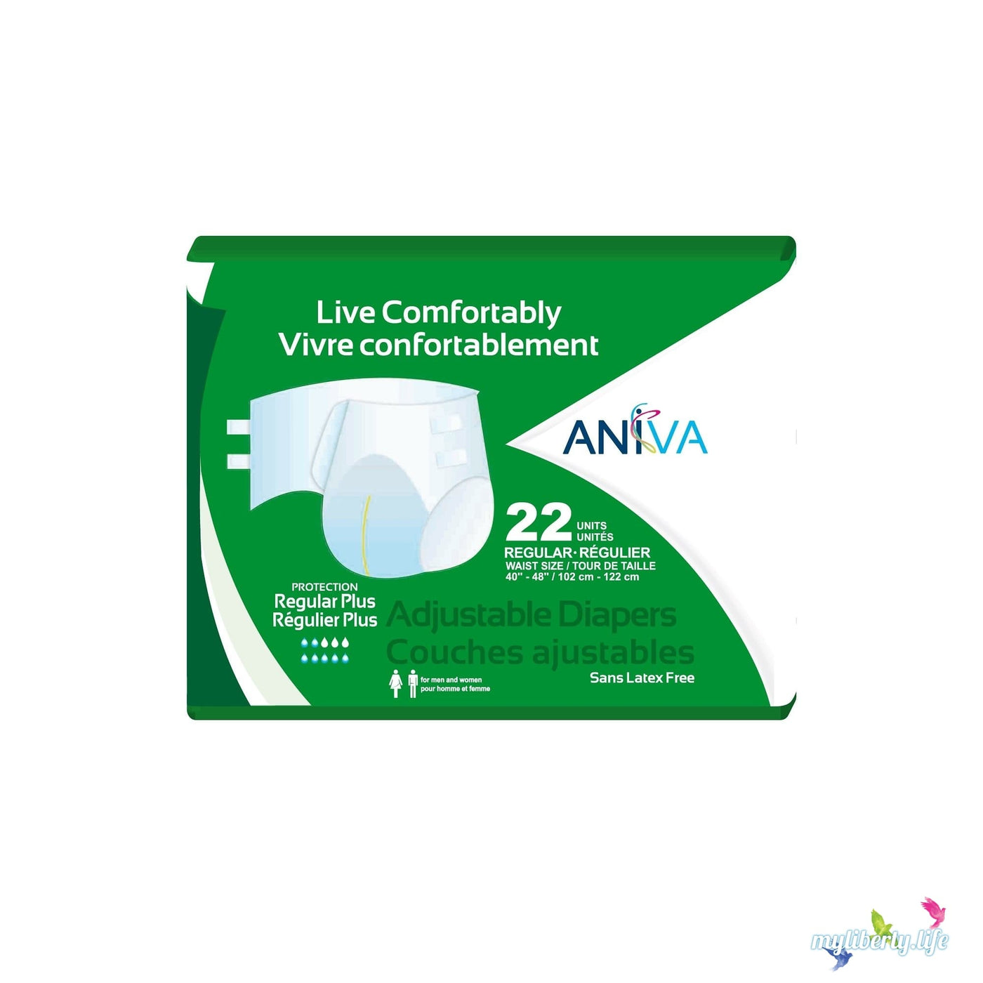Incontinence Adult Diapers Aniva Adjustable Diapers Briefs