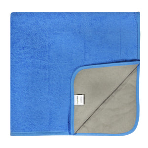 PeapodMats Waterproof Bedwetting Incontinence Mat Cozy Cobalt 3'x3' folded