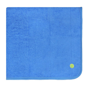 PeapodMats Waterproof Bed Wetting in 3'x3' Washable & Reusable Mats for Incontinence, product illustration in folded cozy cobalt color