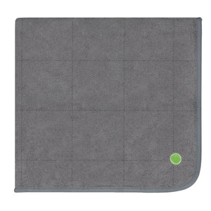 PeapodMats Waterproof Bed Wetting in 3'x3' Washable & Reusable Mats for Incontinence, product illustration in folded dark grey color