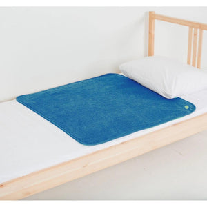 PeapodMats Waterproof Bed Wetting in 3'x3' Washable & Reusable Mats for Incontinence, product illustration in cozy cobaltcolor