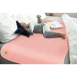 3'x5' PeapodMats Washable & Reusable Waterproof Bed Wetting Incontinence Mats Peach Pink