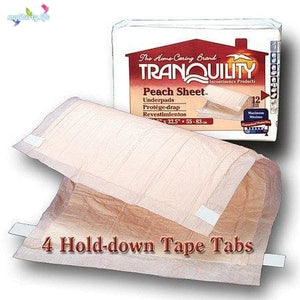 Tranquility underpad Peach Sheet to protect beds and chairs from bed wetting