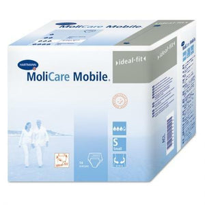 Molicare Mobile adult diapers in small Protective Disposable Underwear for fecal and urinary incontinence, packaging