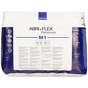 Abena Abri-Flex Premium Protective in Medium Disposable Underwear for incontinence, back of package