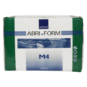 Abena Abri-Form Comfort Adult Briefs, Plastic Backed in M4 Medium packaging