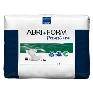 Abena Abri-Form Premium- Completely Breathable in Large Disposable Adult Briefs for incontinence, front of package