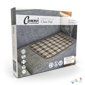 Large Conni Washable Chair Pad with waterproof barrier in Tartan packaging